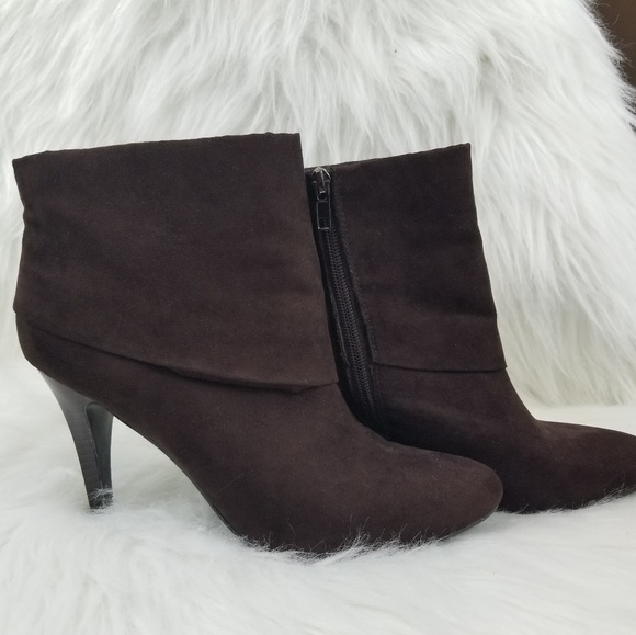8daf7866e Marc Fisher Shoes | Bootie Vallay 4 Cuffed Micro Suede | Poshmark